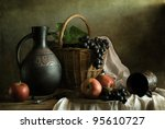 Still Life With Grapes And...