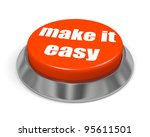 Stock photo button make it easy 95611501