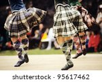 highland dancers at a highland... | Shutterstock . vector #95617462