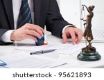 signing contract | Shutterstock . vector #95621893
