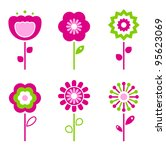 set of retro flower elements... | Shutterstock .eps vector #95623069