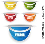 web labels or banners | Shutterstock .eps vector #95630191