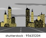 road to the city | Shutterstock .eps vector #95635204
