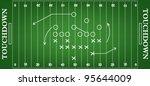 soccer field. vector... | Shutterstock .eps vector #95644009