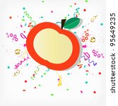 label on an apple festive... | Shutterstock .eps vector #95649235
