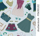 Seamless Pattern With Various ...