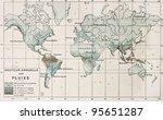 world rainfall map. by paul... | Shutterstock . vector #95651287