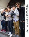 london  uk   feb. 20  boyband... | Shutterstock . vector #95653396