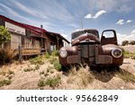 abandoned restaraunt on route... | Shutterstock . vector #95662849