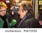 DUBLIN, IRELAND - FEBRUARY 20: Al Pacino interviewed at premiere of his Wilde Salome movie at Jameson Dublin International Film Festival in Savoy Cinema on February 20, 2012 Dublin, Ireland - stock photo