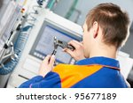 mechanical technician worker... | Shutterstock . vector #95677189