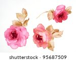 color illustration of flowers... | Shutterstock . vector #95687509
