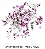 color illustration of flowers... | Shutterstock . vector #95687521