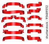 banners set of thirteen red... | Shutterstock . vector #95689552