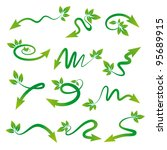arrows with leaves in their... | Shutterstock .eps vector #95689915