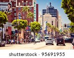 los angeles   july 19  view of... | Shutterstock . vector #95691955