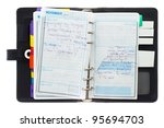 black leather organizer with... | Shutterstock . vector #95694703