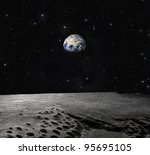 Earth Seen From The Moon ...