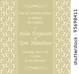 elegant wedding invitation... | Shutterstock .eps vector #95698411