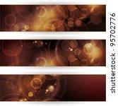 header  banner set. overlying... | Shutterstock . vector #95702776