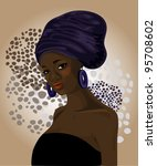 beautiful traditional african...   Shutterstock .eps vector #95708602