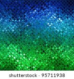 Blue Green Glass Mosaic