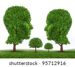 green family symbol with trees... | Shutterstock . vector #95712916