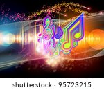 background of colorful f waves... | Shutterstock . vector #95723215