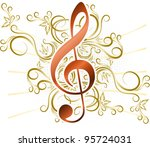 abstract musical background... | Shutterstock .eps vector #95724031
