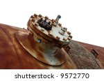 An Old Rusted Industrial Steel Tank - stock photo
