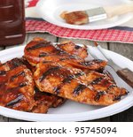Barbecue Chicken Breast On A...