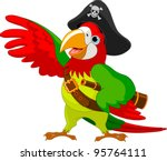illustration of talking pirate... | Shutterstock .eps vector #95764111