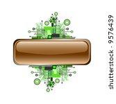 grunge   hi tech vector banner... | Shutterstock .eps vector #9576439
