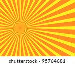 Vector Orange Rays Background