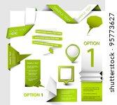 Set of green Vector web elements