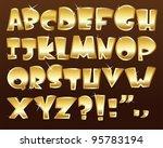 gold alphabet   Shutterstock .eps vector #95783194