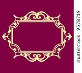 baroque frame | Shutterstock .eps vector #9578719