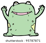 cartoon frog  raster version  | Shutterstock . vector #95787871
