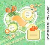 vector baby card with scrapbook ... | Shutterstock .eps vector #95790304