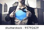 closeup of a businessman...   Shutterstock . vector #95792629