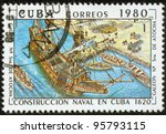 cuba   circa 1980  a stamp... | Shutterstock . vector #95793115
