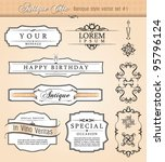 Baroque Antique Styled Vector...