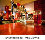 pint of beer on a bar in a... | Shutterstock . vector #95808946