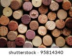 close up of a cork wine with... | Shutterstock . vector #95814340