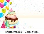 vector illustration of happy... | Shutterstock .eps vector #95815981