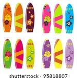 surf board vector set | Shutterstock .eps vector #95818807