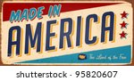 vintage made in america metal... | Shutterstock .eps vector #95820607