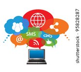 social network symbols in...   Shutterstock .eps vector #95828287