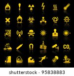 set symbols danger icons | Shutterstock .eps vector #95838883