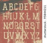 vintage grunge western alphabet ... | Shutterstock .eps vector #95844211